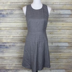 J. Crew Suiting Pleated Flannel Wool Dress